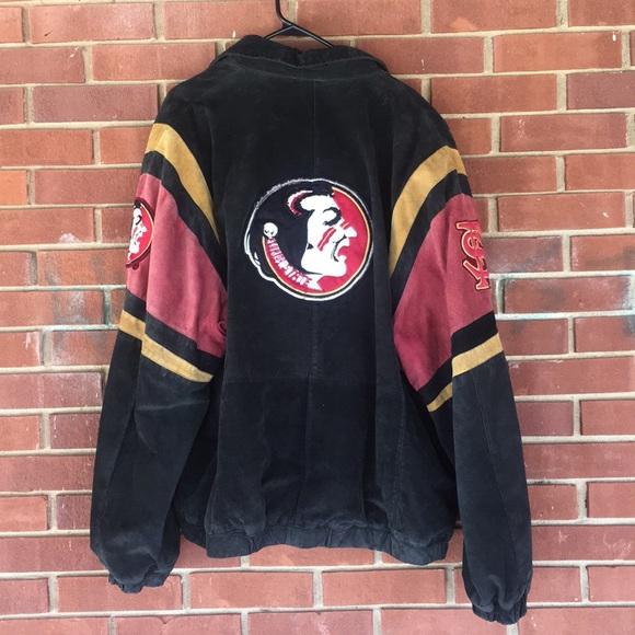 8f7bddd16 Florida State University Vintage Suede Jacket